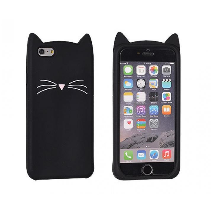 Krytomat.cz - Kryt na iPhone 6 - 3D - Černá kočka 080b95f7c7b