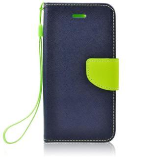 Pouzdro na Nokia 5.1 - Fancy Book - námořnická modrá/zelená